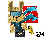 Ninja-Bunny-Action-POW by SolII