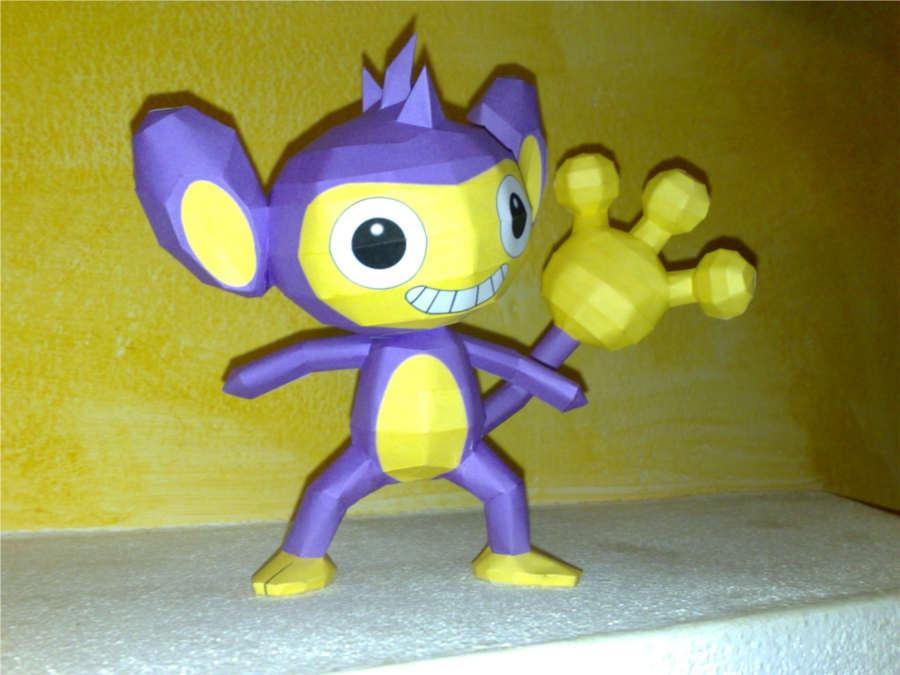 Aipom papercraft by LordBruco
