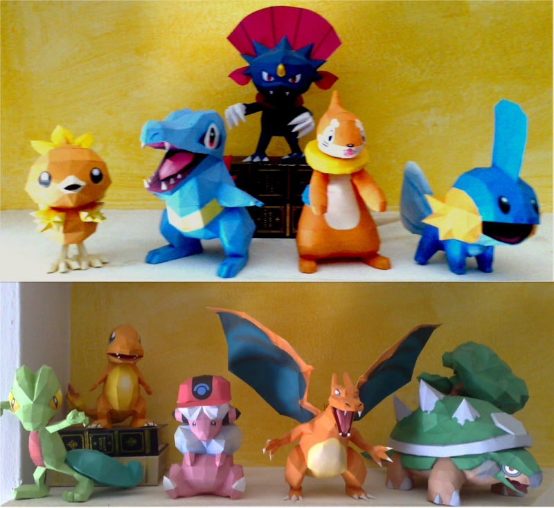 Some Papercrafts by LordBruco