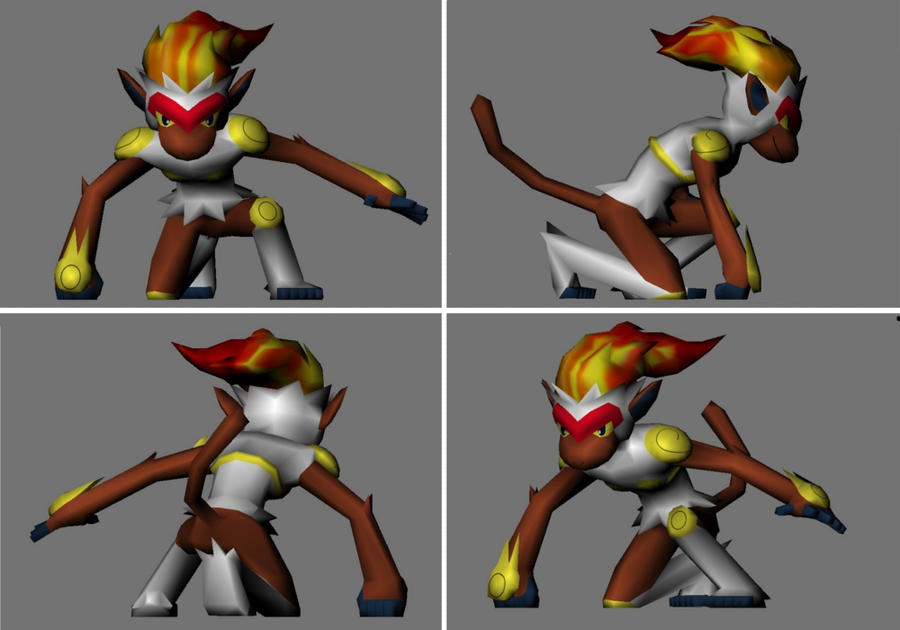 infernape papercraft 3D model by LordBruco