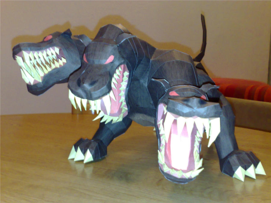 Cerberus papercraft by LordBruco
