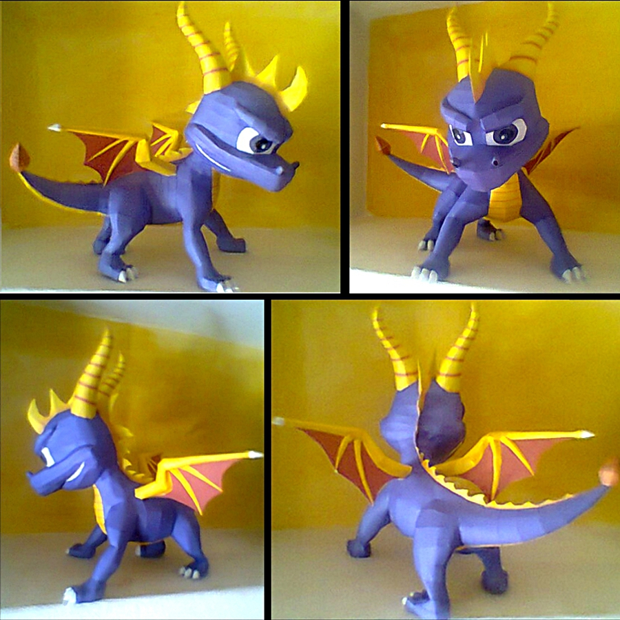 Spyro papercraft by LordBruco