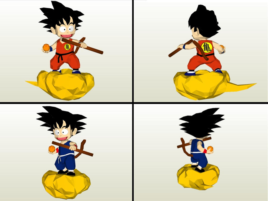 Son Goku Papercraft by LordBruco