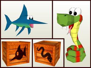 Donkey Kong Animal Buddies papercraft
