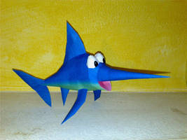Enguarde the swordfish papercraft by LordBruco