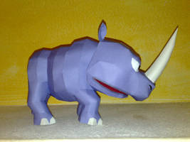 Rambi the Rhino papercraft by LordBruco