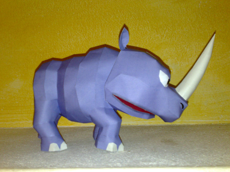 Rambi the Rhino papercraft by LordBruco