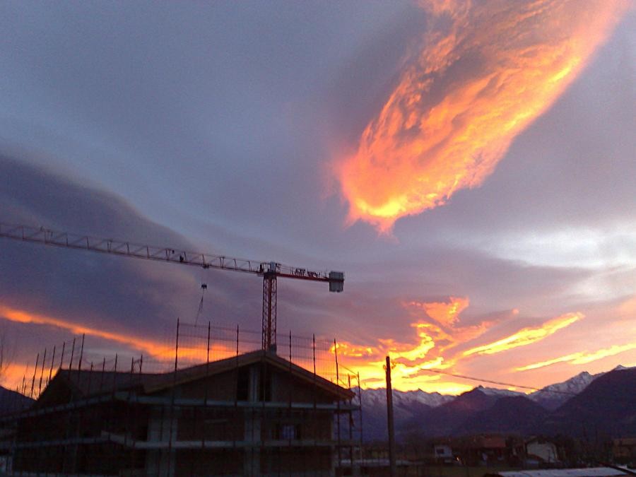 Burning sky by LordBruco