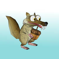 Scrat papercraft 3d model by LordBruco