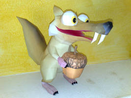 Scrat papercraft by LordBruco
