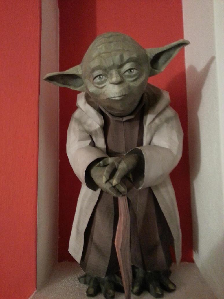 Yoda papercraft by LordBruco