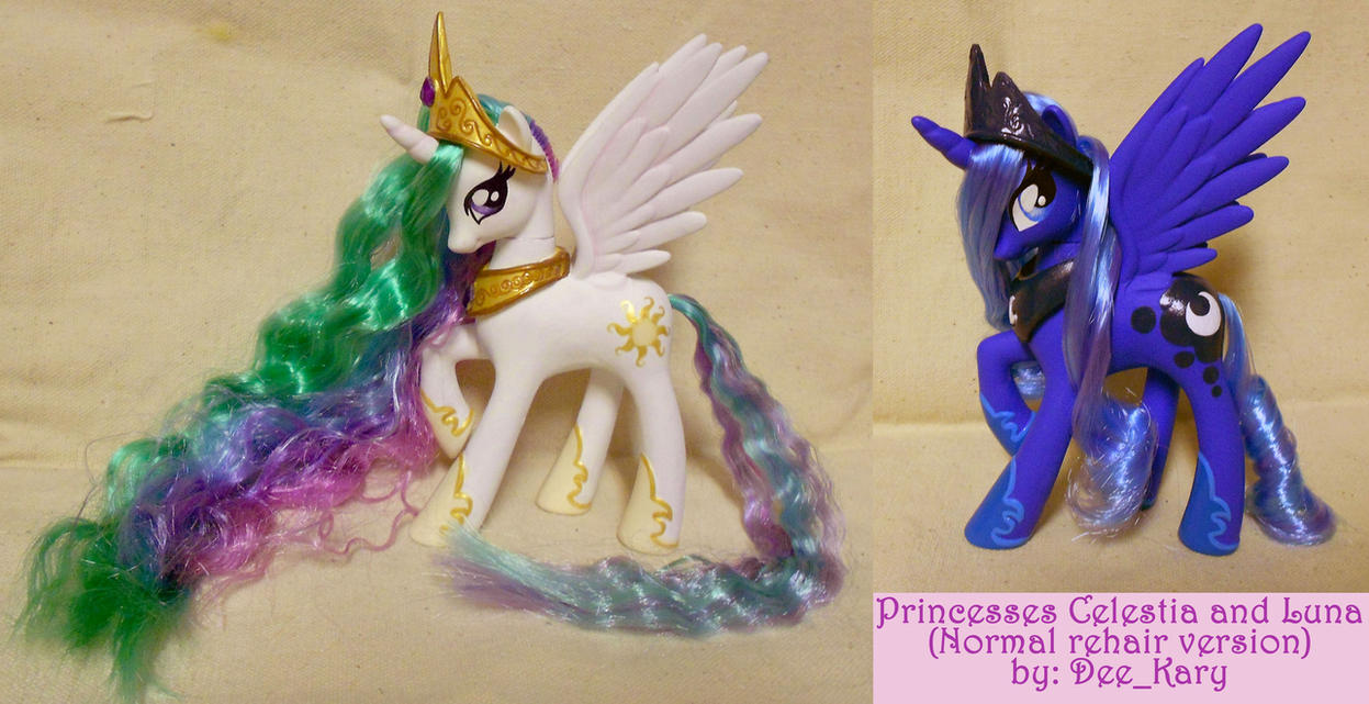 Celestia and Luna - made with new Celestia toy by DeeKary