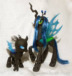 Queen Chrysalis and Her Minion