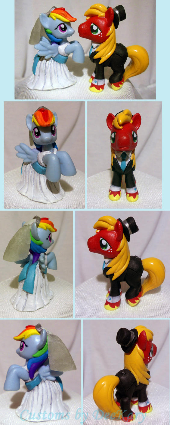 Blind Bag Wedding Cake Toppers - BigMac and RD by DeeKary