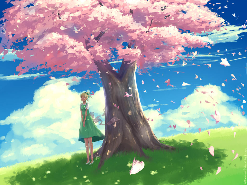 A Breezy, Blossomy Day by 00kaorin00