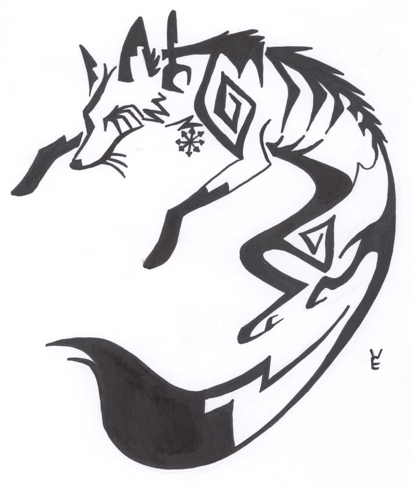 Auddie fox tattoo by xemmi on deviantart for Cool fox drawings