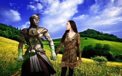 Ermac and Jeifara love by ErmacEruErmac