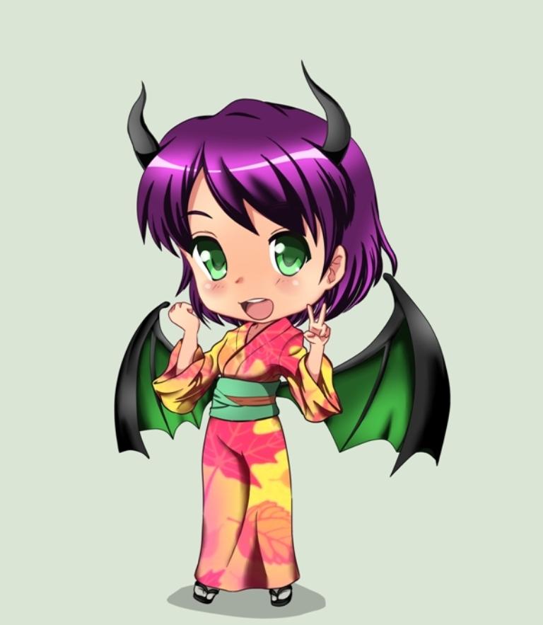 little chibi devil by CloudDraw