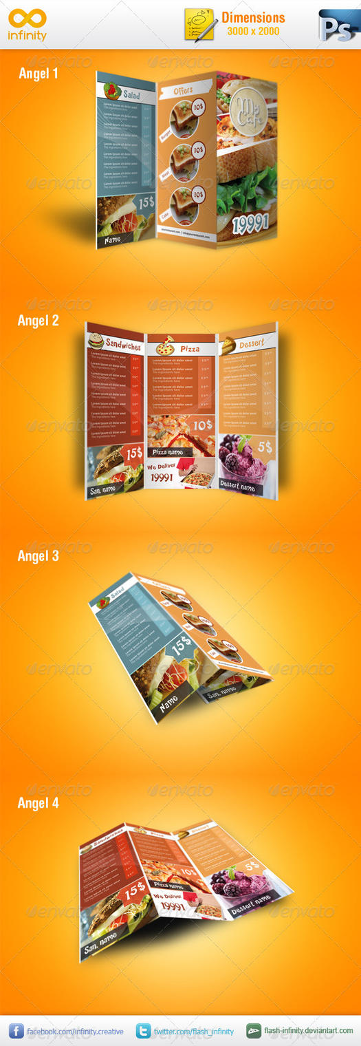 Modern TriFold Brochure Mockup v1 by flash-infinity