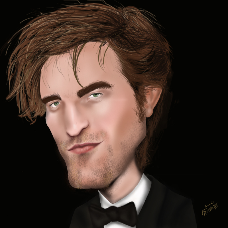 Robert Pattinson caricatura by lufreesz