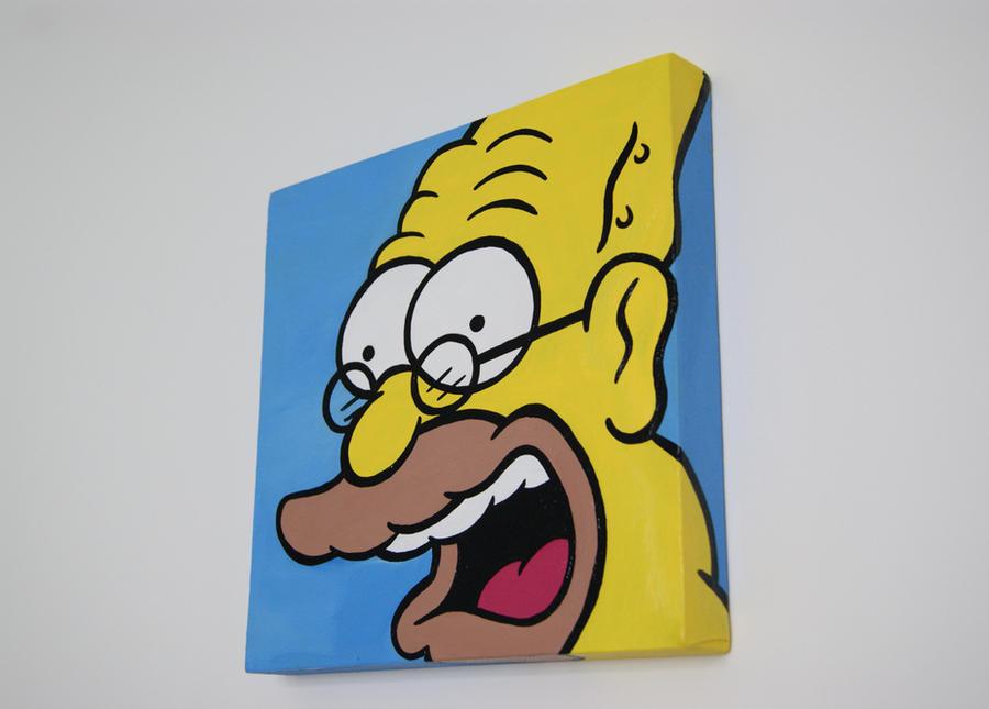 Abe Simpson fan art by lufreesz