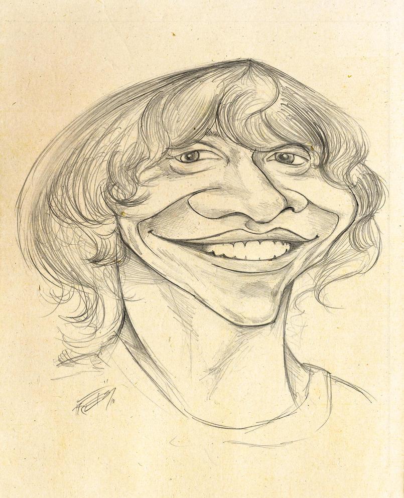 Rupert Grint caricature sketch by lufreesz