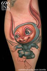 flyin bunny by JasonJacenko