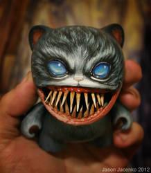 creepy cat for the Kidrobot custom contest by JasonJacenko