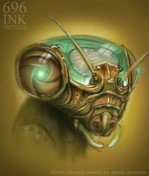 insect speed painting by JasonJacenko