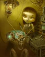 progress of digital painting by JasonJacenko