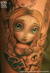 progress pic alice in wonderland tattoo