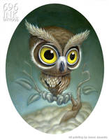 owl painting by JasonJacenko