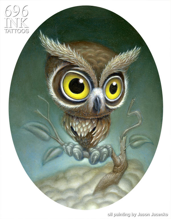 owl painting by JasonJacenko