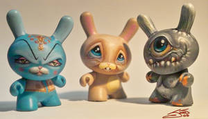 dunny custom group shot by JasonJacenko