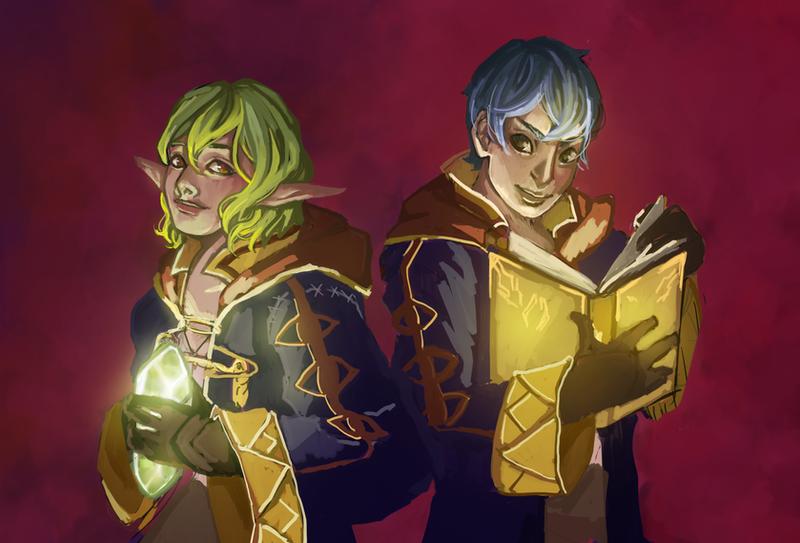 Dragon Siblings by Okami-Kiera