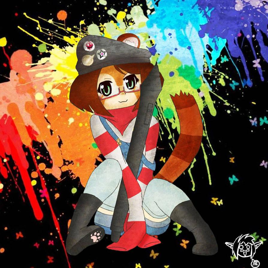 Akibaferret Mascot Hibiki