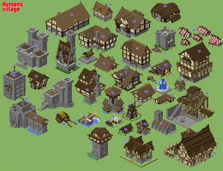 Human Village (WIP) by spasquini