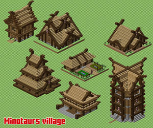 Minotaurs village (WIP) by spasquini