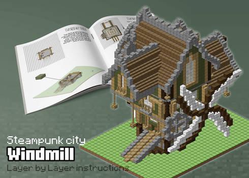 Steampunk city: Windmill
