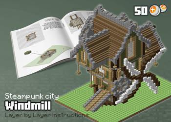 Steampunk city: Windmill by spasquini