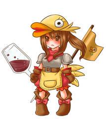 Duck Knight Girl by Hideyo