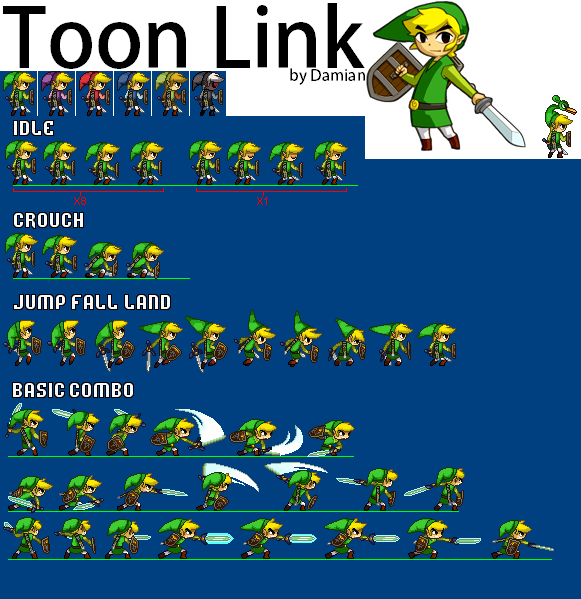 Toon Link Sheet- UPDATED by Damian2841 - 75.9KB