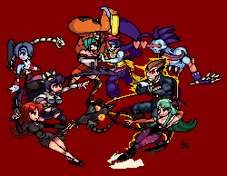 Skullgirls VS Darkstalkers #2 by Damian2841