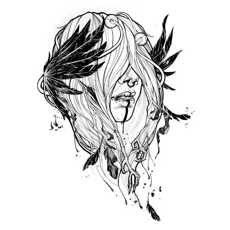 Line Drawing Raven : Maybe raven by yadou on deviantart