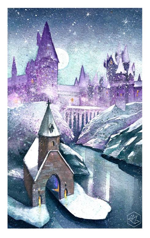 Christmass in Hogwart by yadou