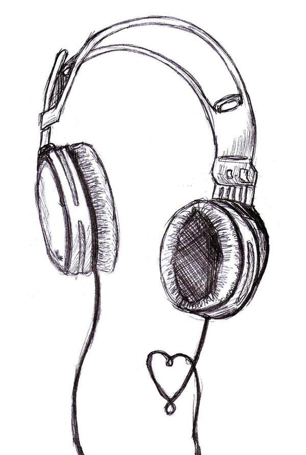 How to draw headphone