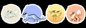 pokemon a day: 133-136