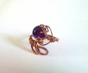 wire wrapped ring by EatThatCookie