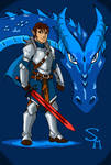 Eragon and Saphira by SkechMaster22