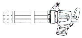how to draw a 2d minigun